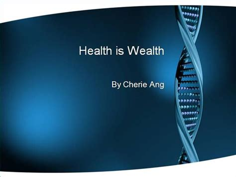 power point themes wealth health is wealth authorstream