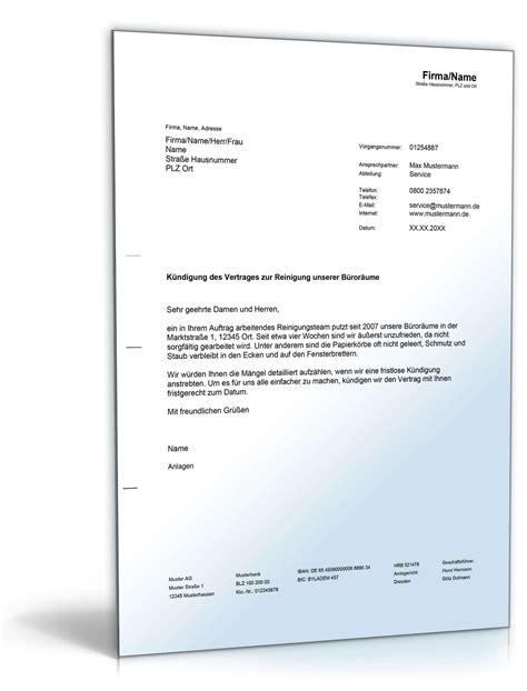 Muster Einladung Pressekonferenz K 252 Ndigung Des Reinigungsdienstes Muster Vorlage Zum