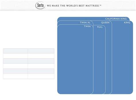 Mattress Sizing Chart by Sle Mattress Size Chart Free