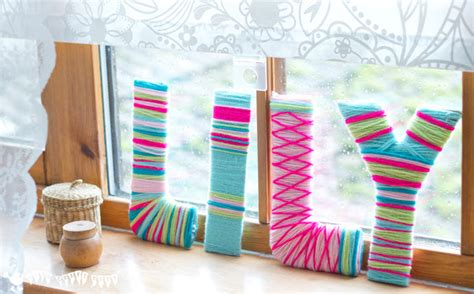diy craft letters yarn wrapped diy wall letters craft room