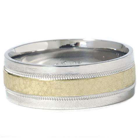 18k gold wedding band mens 950 platinum 18k gold hammered wedding band ring ebay