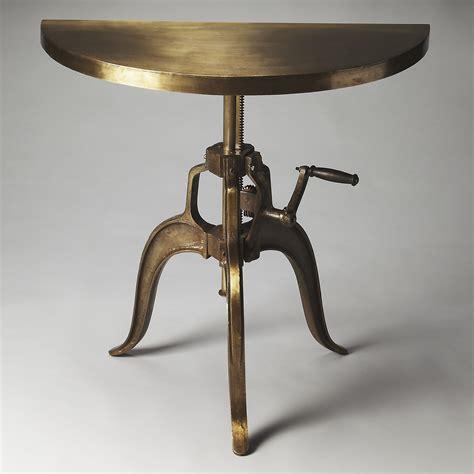metal demilune console table butler garrison industrial chic demilune console table