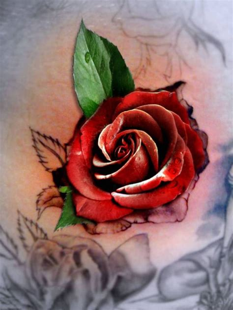d rose tattoos 45 awesome 3d flower tattoos designs best 3d flower images
