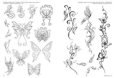 tatuaggi fiori sfumati flowers butterflies