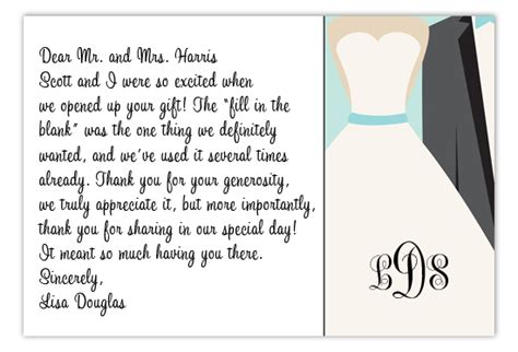 thank you letter wedding gift exles etiquette tidbit wedding thank you notes polka dot