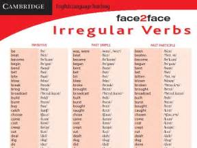 irregular verb chart with audio secondary box