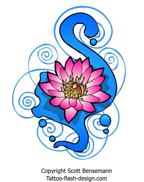 tattoo flash lotus flower pink lotus flower on blue water free tattoo design flash