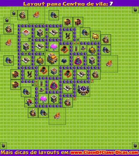 layout push cv 7 melhores layouts para clash of clans centro de vila n 237 vel