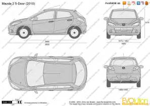 the blueprints vector drawing mazda 2 5 door