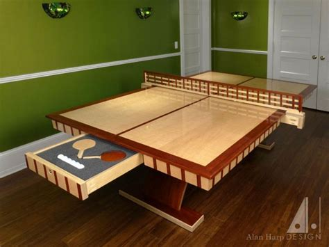 custom ping pong table custom curly maple and padauk ping pong table to be
