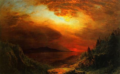 painting twilight 19th century american paintings frederic edwin church ctd