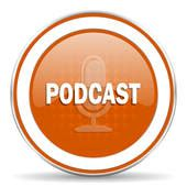 orange podcast graphics of podcasting royalty free gograph