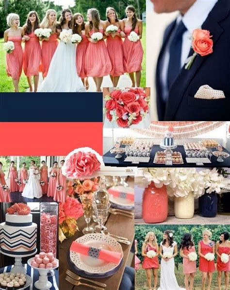 navy and coral wedding ideas discover and save creative ideas