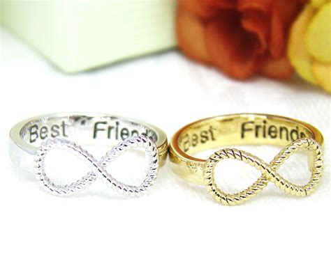 s infinity ring engraved best friends ring jewelry