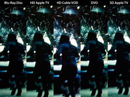 apple tv 2.0 vs. blu ray, dvd vod cable hd guim.fr