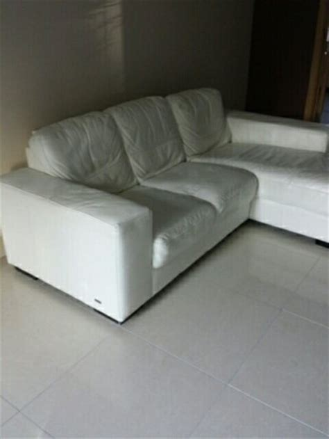 cream leather l shaped sofa cream leather l shaped sofa for sale in tallaght dublin