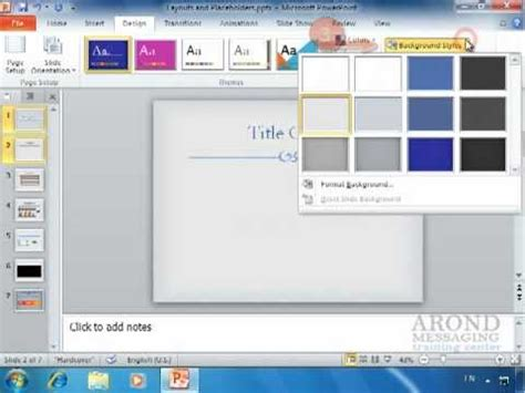 using powerpoint 2010 apply a texture or picture