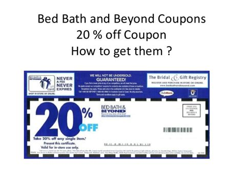 bed bath and beyond 20 off three simple step on how to get bed bath and beyond coupons