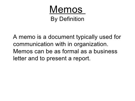 What Is Business Letter And Memo the business memos