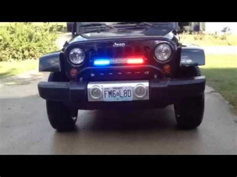 Emergency Lights For Jeep Wrangler They Are Much Brighter That The Showes 2010 Jeep
