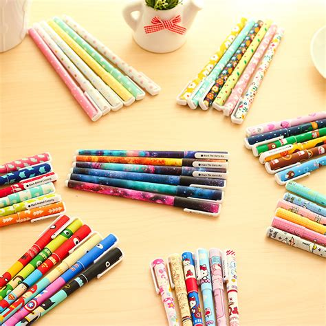 Set Hello 6 Pcs っ6pcs set hello 169 pens pens 0 38mm black ink roller pen kawaii kawaii cat gel pens