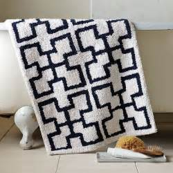 navy and white bath mat trellis bath mat modern bath mats by west elm