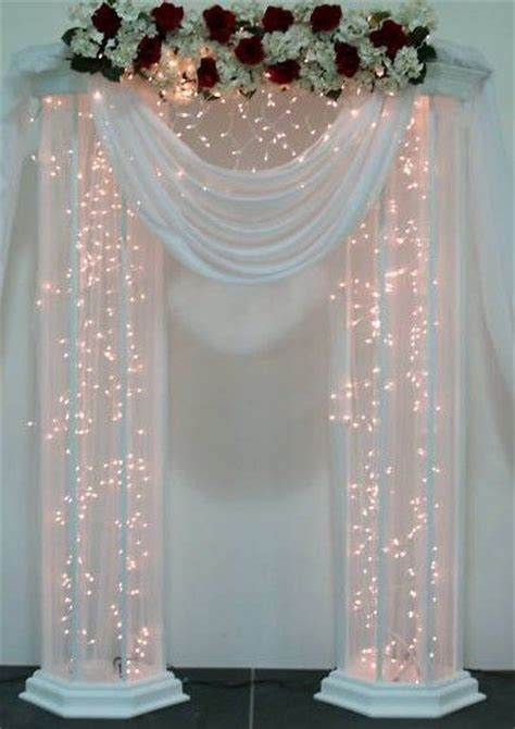 Wedding Backdrop Ideas With Columns by Top 25 Best Wedding Columns Ideas On
