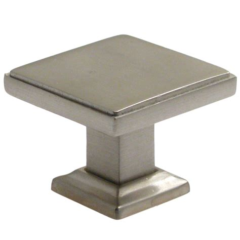 Lowes Kitchen Cabinets Brands by Rusticware 992 1 3 8 Quot Modern Square Cabinet Knob