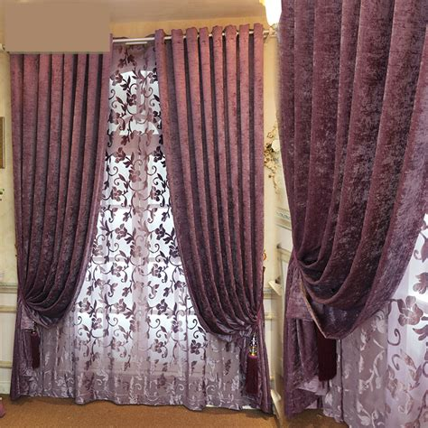 Purple Velvet Curtains Popular Purple Velvet Curtains Buy Cheap Purple Velvet Curtains Lots From China Purple Velvet