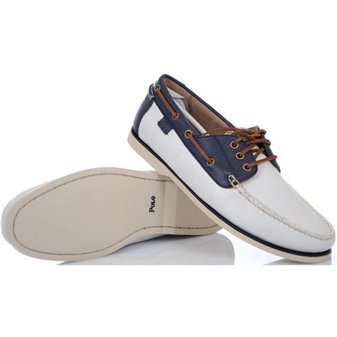 ralph shoes ralph shoes bienne ii white tumbled leather boat
