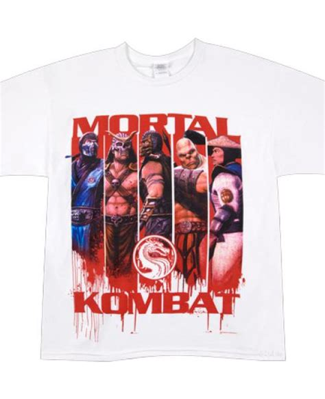 T Shirt Mortal Kombat Anime panels mortal kombat t shirt