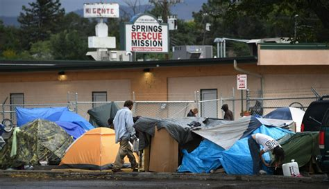 shelters in colorado springs tent city blossoms as completion of new colorado springs homeless shelter races cold