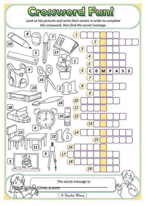 primary school worksheet 215 best crosswords images on language