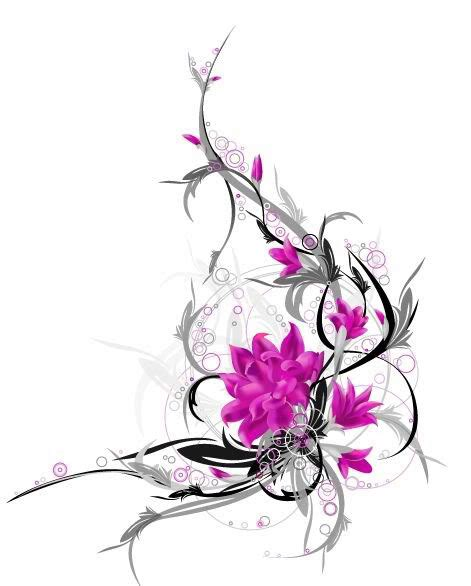flower with vines tattoo designs flower tattoos popular designs