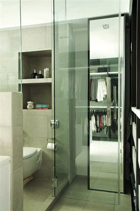 Bedroom Doors Sg 4 Room Hdb A Glass Door Separates The Bathroom From