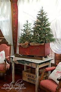 Christmas Sleigh Centerpieces by 45 Most Pinteresting Rustic Christmas Decorating Ideas