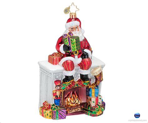 Radko Ornaments - christopher radko santa mantel ornament