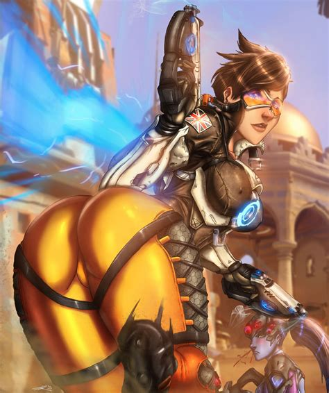 hot female overwatch characters tracer run by ultamisia deviantart on deviantart