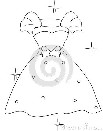the dress book coloring book collette s dresses volume 4 books dress with a ribbon coloring page stock illustration