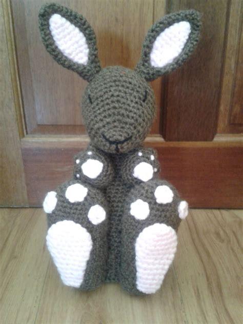knitting pattern house door stop doorstop bunny rabbit crochet pattern beginner amigurumi