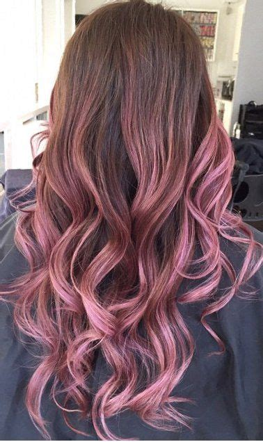 Pink Hair Brown Shadow Root Chocolate Strawberry Ombre Of Chocolate Strawberry Hair Color Salon Vancouver Bc Canada Balayage By Lorettatomhair Pink Ombre Hair Ideas