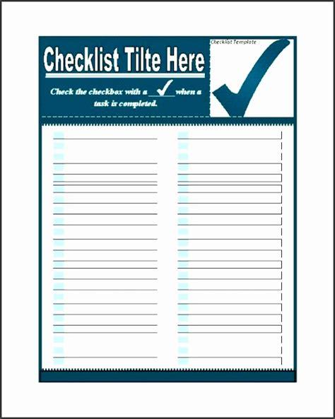 9 Checklist Templates Sletemplatess Sletemplatess Microsoft Word Template Checklist