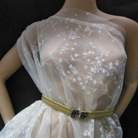 Organza Silk effortless elegance 100 silk printed organza fabric bridal fabric m white ebay