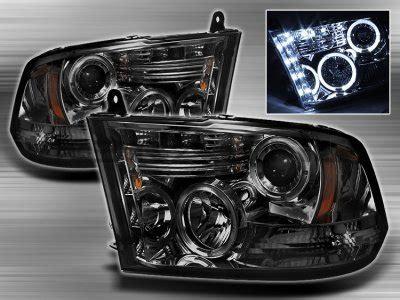 dodge ram 2500 2010 2014 smoked halo projector headlights