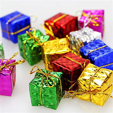 merry christmas pc mini gift box christmas tree decorations ornaments  year decorations