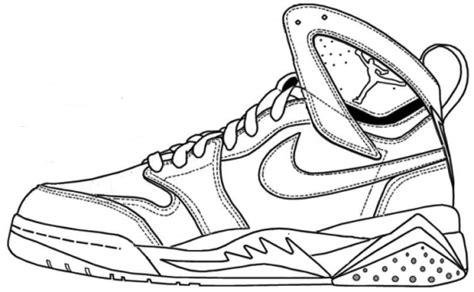 coloring pages of air jordan shoes air jordan shoes coloring pages to learn drawing outlines
