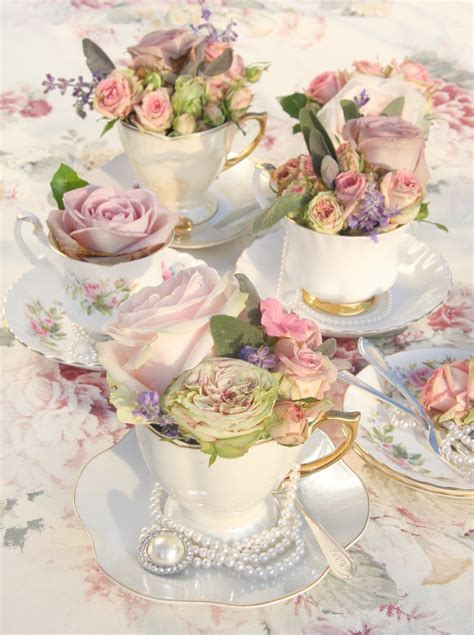 kitchen tea party ideas all things sweet chigarden roses bouquets in teacups pictures photos and images for