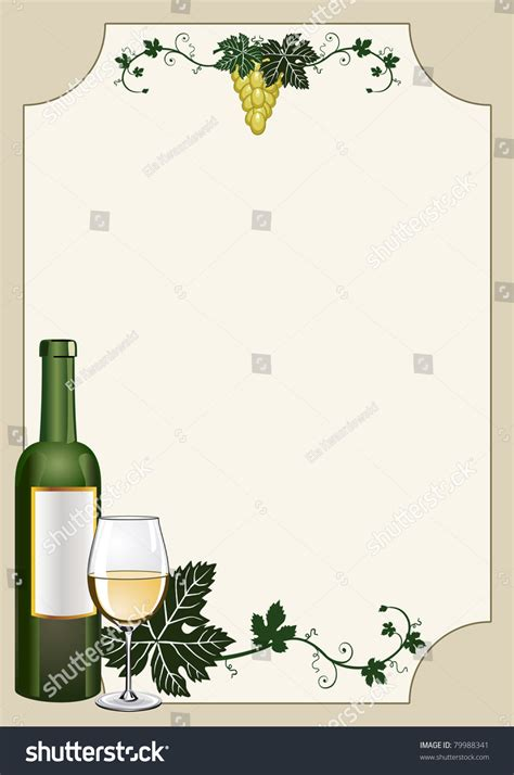 wine shield card background restaurant menu stock vector