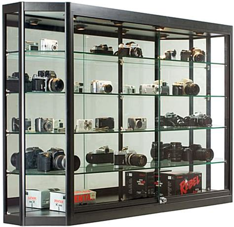 display cabinets locking tempered glass doors