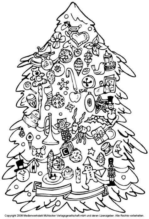 zum ausmalen weihnachtsbaum mit spielzeugbehang pictures